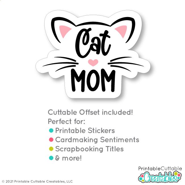 Cat Dad - Cat Mom SVG Files