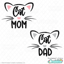 Cat Mom - Dad SVG Files
