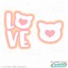 Free LOVE Cat SVG Files