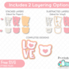 Free LOVE Cat SVG Files for Cricut and Silhouette