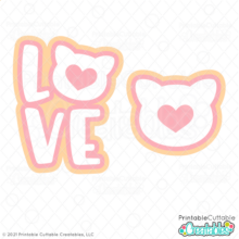 Free LOVE Cat SVG Files