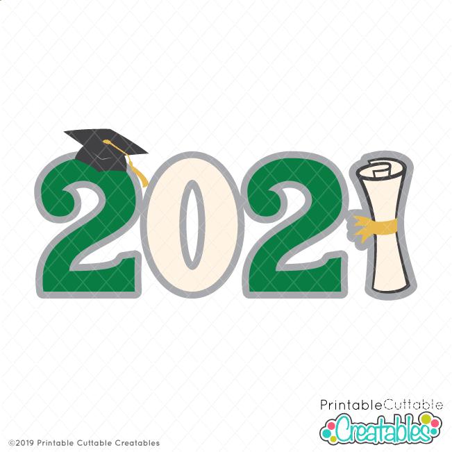 Graduation 2021 Title Free SVG File