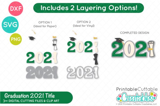 Free Graduation 2021 Title SVG File
