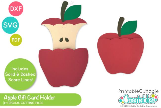Apple Gift Card Holder SVG File for Cricut & Silhouette