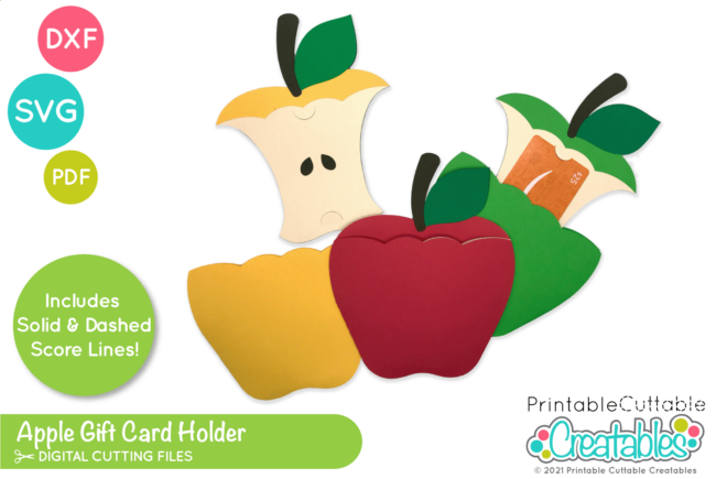 Teacher Gift Card Holder SVG File for Cricut & Silhouette