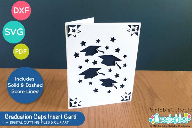 Free Graduation Card SVG File for Cricut & Silhouette - works with Cricut Joy