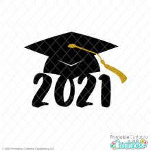 Graduation Cap 2021 Free SVG File