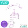 Make a Wish Birthday Cake Free Single Line SVG File