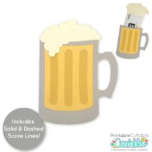 Beer Mug Gift Card Holder SVG File
