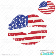 American Flag Lips SVG Free for Cricut & Silhouette