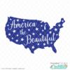 America the Beautiful Free SVG File