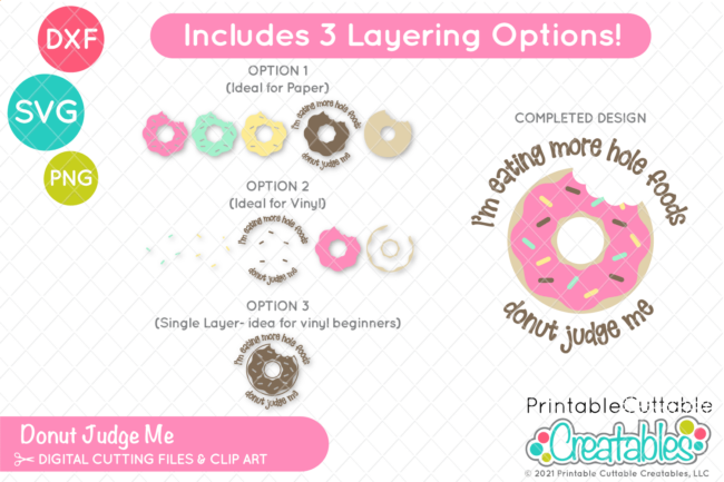 Free Funny Donut SVG File for Cricut & Silhouette
