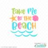 Take Me to the Beach Free SVG File