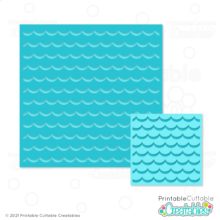 Free Ocean Wave Background Stencil SVG
