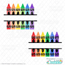 Split Crayon SVG Free Monogram Frame