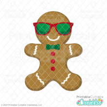 Sunglasses Gingerbread Cookie Free SVG File