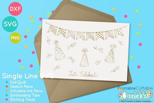 Birthday Banner Foil Quill Designs