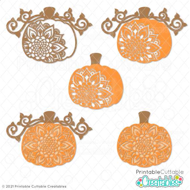 Pumpkin Mandala SVG File