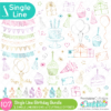 Single Line SVG Birthday Bundle