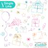 Single Line Birthday SVG Files