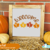 Free Welcome Fall SVG File