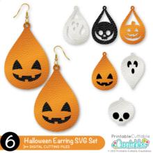 Halloween Earrings Free SVG Files