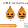 Free DIY Halloween Earrings SVG File