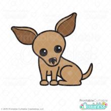 Cute Chihuahua SVG Cutting File Clipart