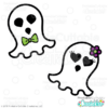 Cute Ghosts Halloween SVG Cutting Files & Clipart