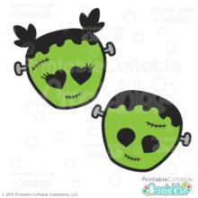 Cute Frankenstein Halloween SVG Cut Files & Clipart