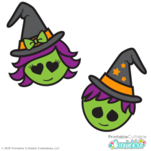 Cute Witch Warlock Halloween SVG Cut Files Clipart