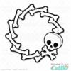 Halloween Skull Wreath SVG File