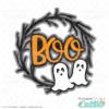 Halloween Ghost Wreath SVG File