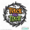 Halloween Trick or Treat Wreath SVG File
