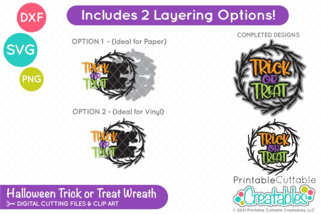 Trick or Treat Wreath SVG