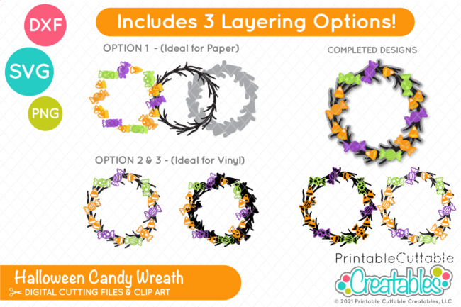 Halloween Wreath SVG File