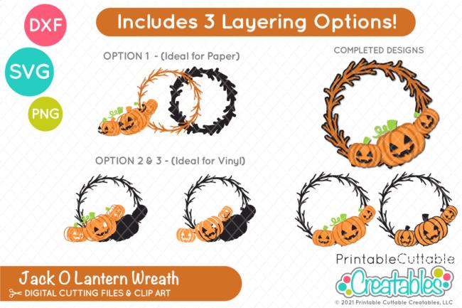 Halloween Pumpkin Wreath SVG File