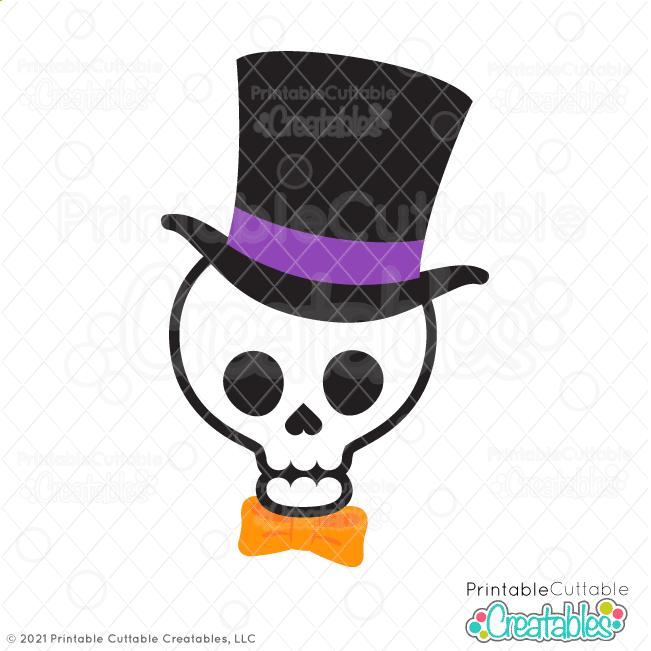 Skull Top Hat SVG File