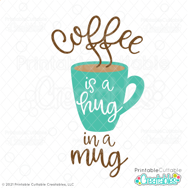 Hug in a Mug Coffee Free SVG File