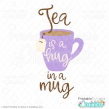 Hug in a Mug Tea Free SVG File