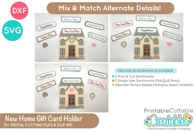 House Gift Card Holder SVG File