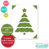 Scallop Christmas Tree Insert Card Free SVG File