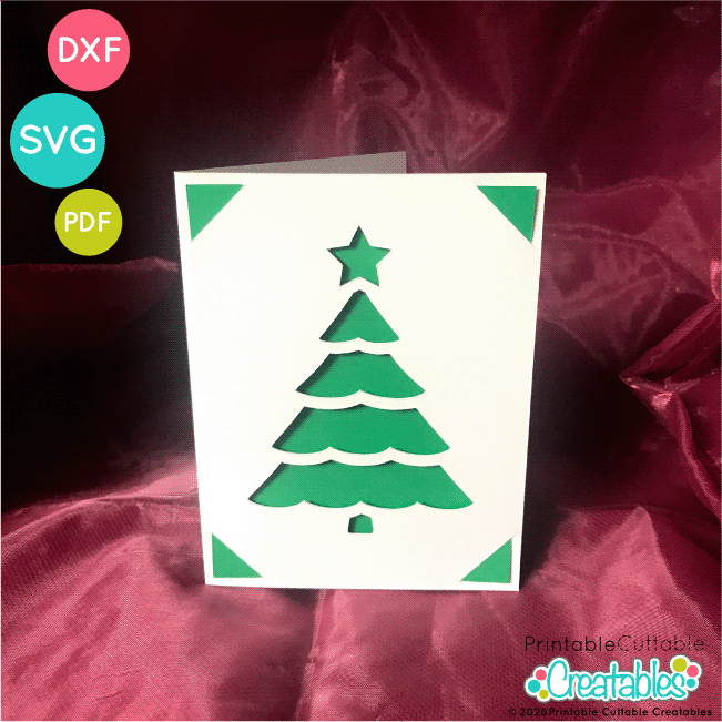 Christmas Tree Card Free SVG File