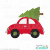 Christmas Tree Car SVG File