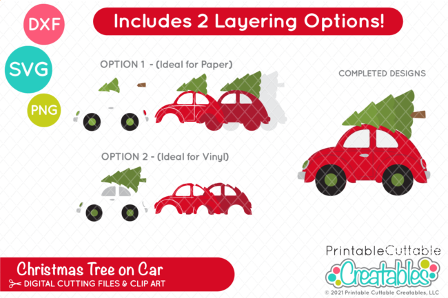 Car with Christms Tree SVG File