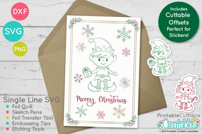Christmas Elves Foil Quill Design