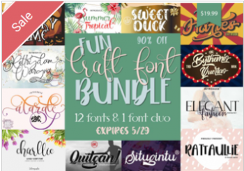 Fun Craft Font Bundle Commercial Use