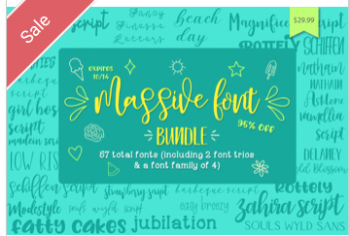 Massive-Font-Bundle-Commercial-Use