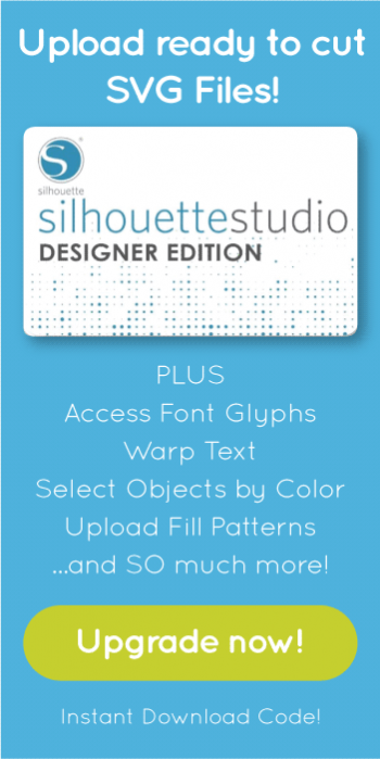 Open SVG Files with Silhouette Studio Designer Edition Upgrade